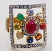 Navratan Gold Ring